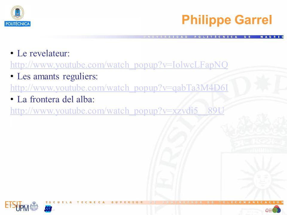 Philippe Garrel Le revelateur: