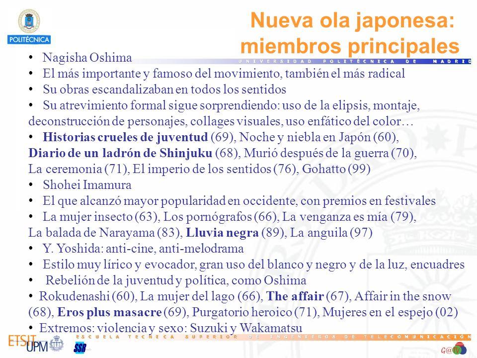 Nueva ola japonesa: miembros principales Nagisha Oshima
