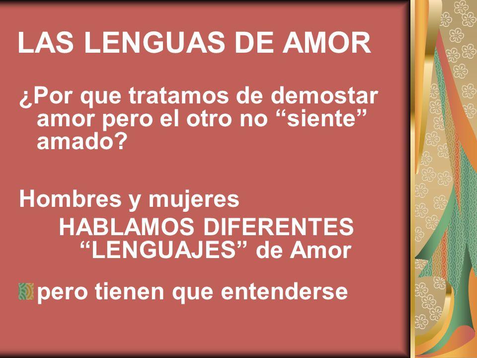 HABLAMOS DIFERENTES LENGUAJES de Amor