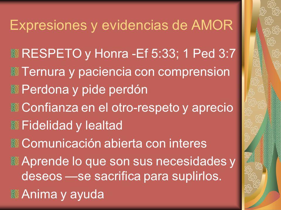 Expresiones y evidencias de AMOR