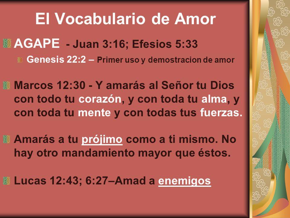 El Vocabulario de Amor AGAPE - Juan 3:16; Efesios 5:33