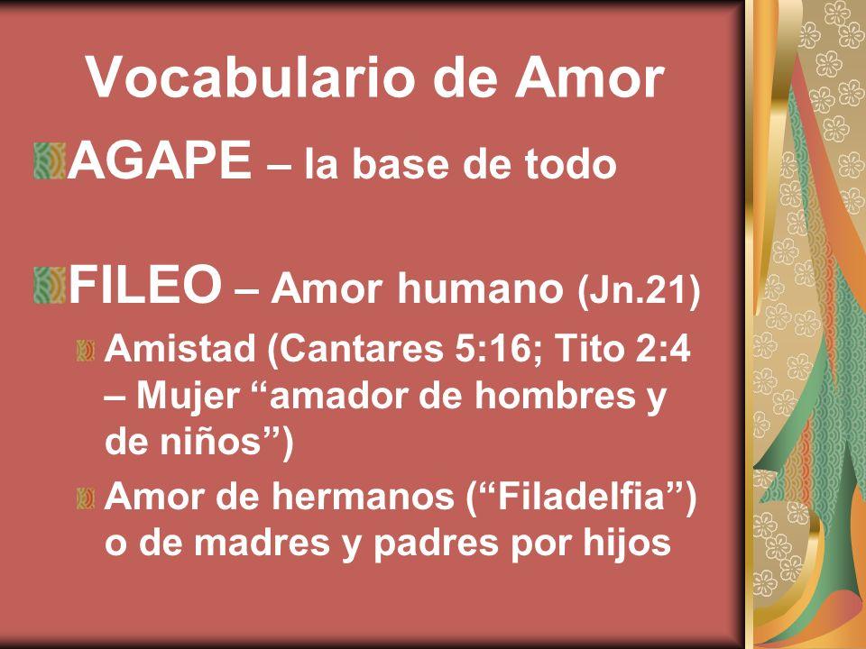Vocabulario de Amor AGAPE – la base de todo