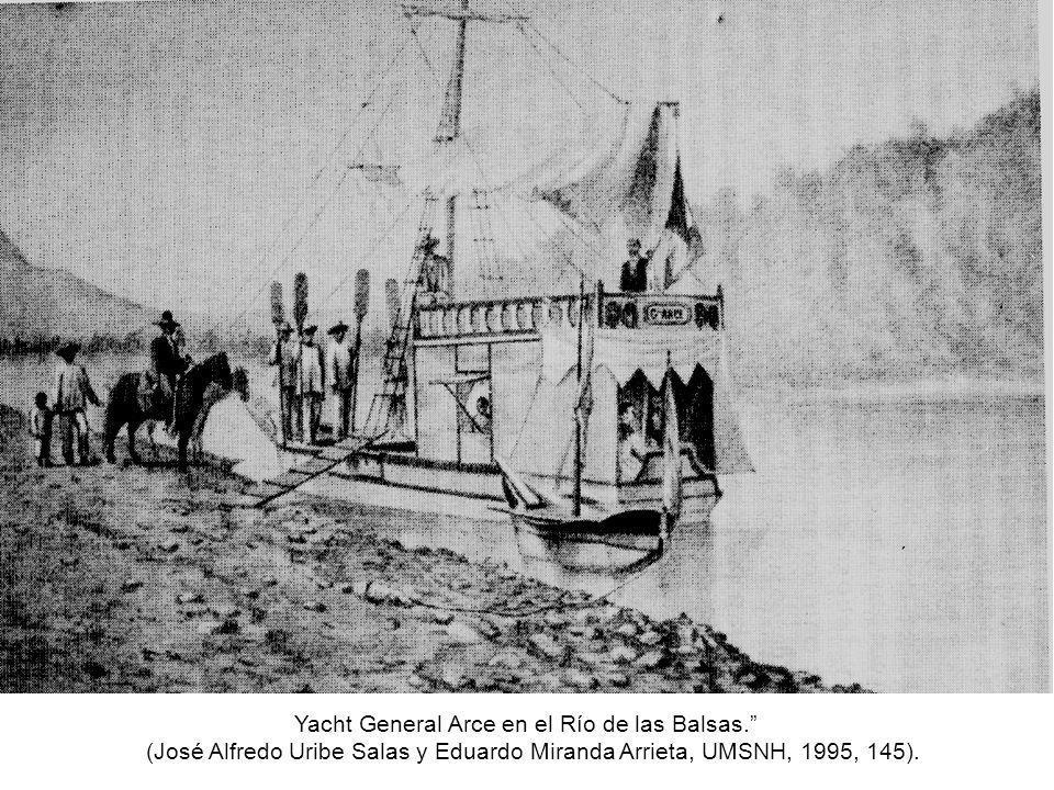 Yacht General Arce en el Río de las Balsas.