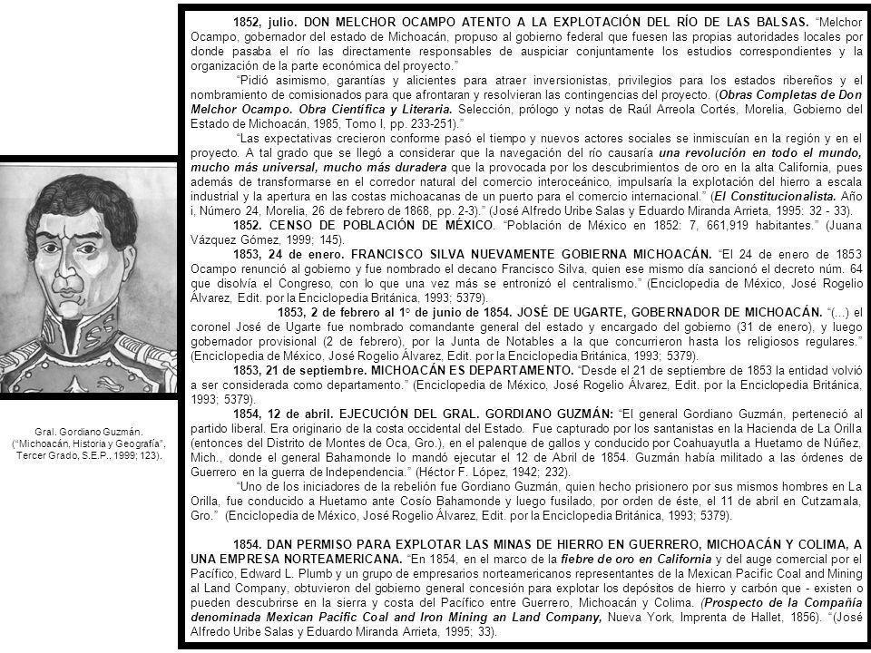 ( Michoacán, Historia y Geografía , Tercer Grado, S.E.P., 1999; 123).