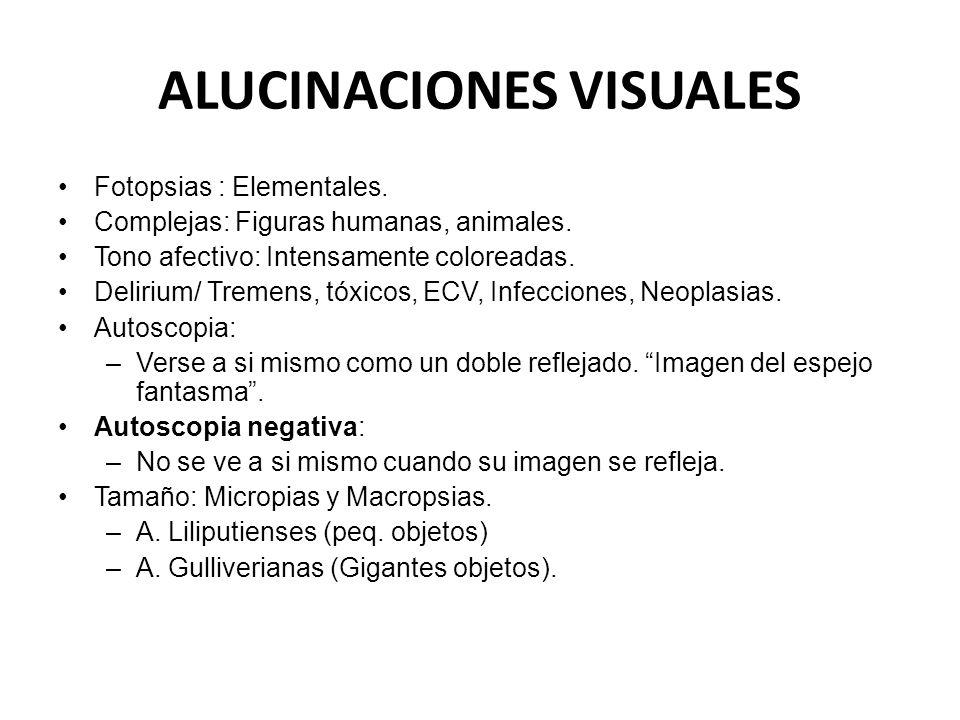 ALUCINACIONES VISUALES