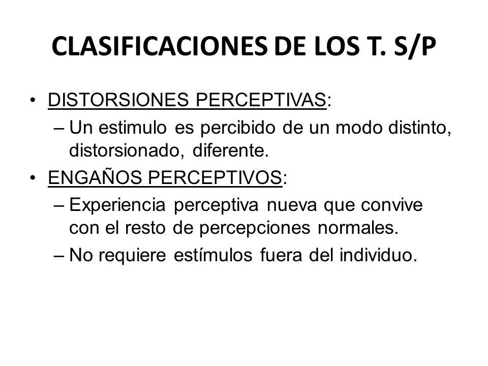 CLASIFICACIONES DE LOS T. S/P