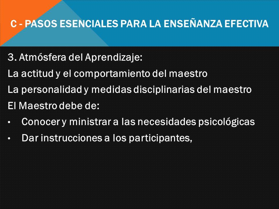 C - Pasos Esenciales para la Enseñanza Efectiva