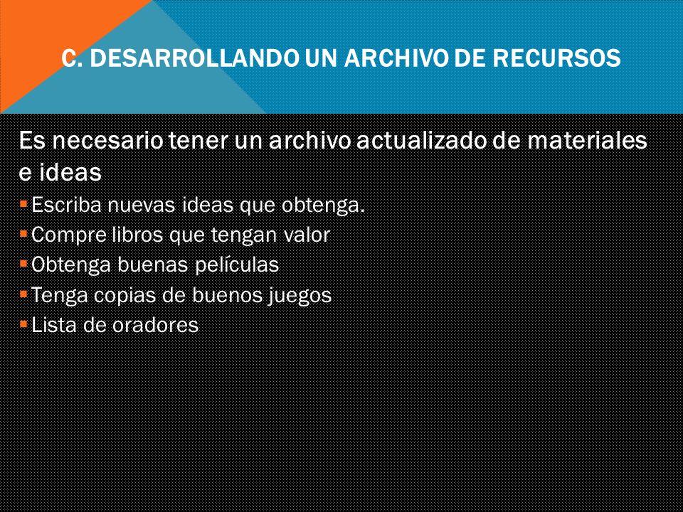 C. Desarrollando un Archivo de Recursos