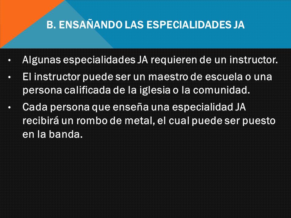 B. Ensañando las Especialidades JA