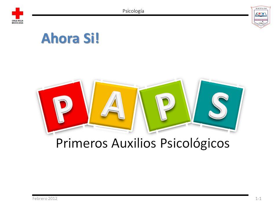 Psicología Ahora Si! Febrero 2012
