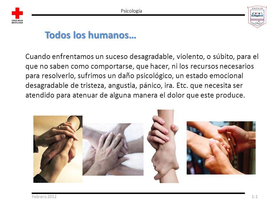 Psicología Todos los humanos…