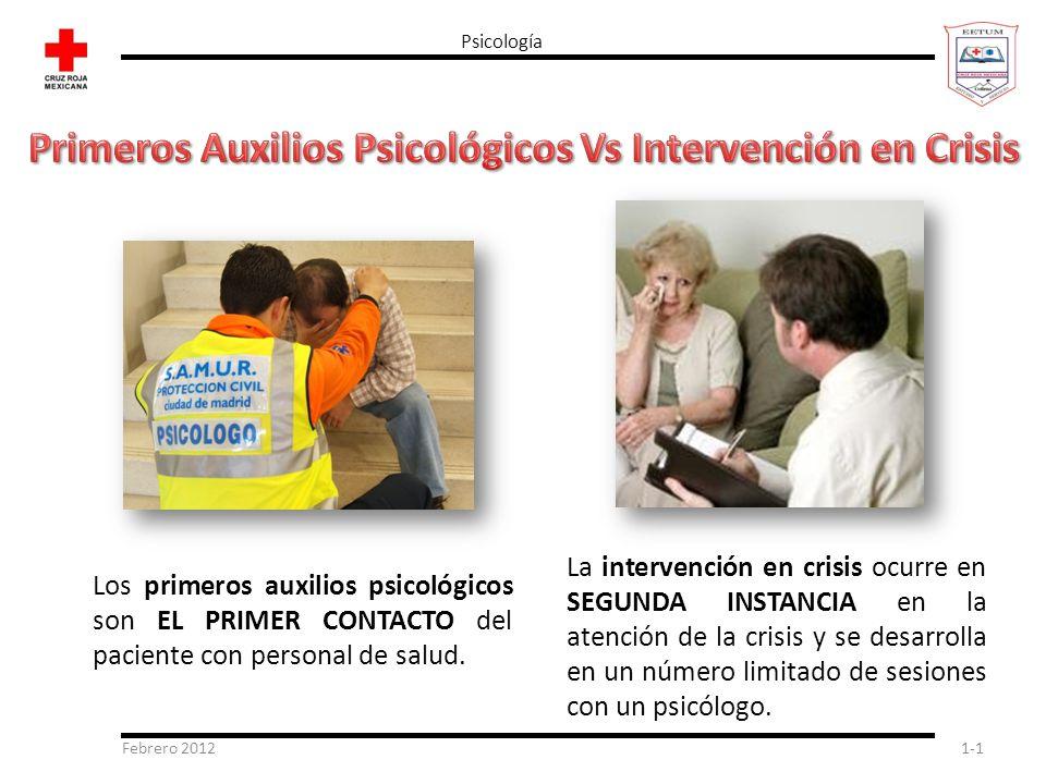 Primeros Auxilios Psicológicos Vs Intervención en Crisis