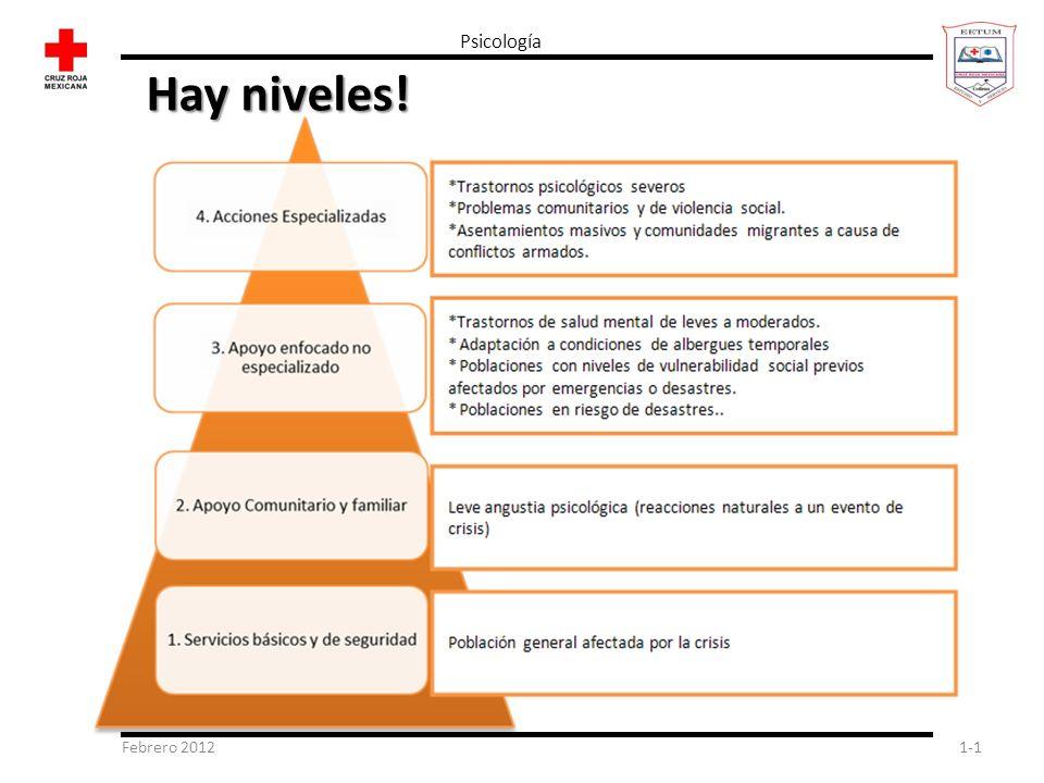 Psicología Hay niveles! Febrero 2012