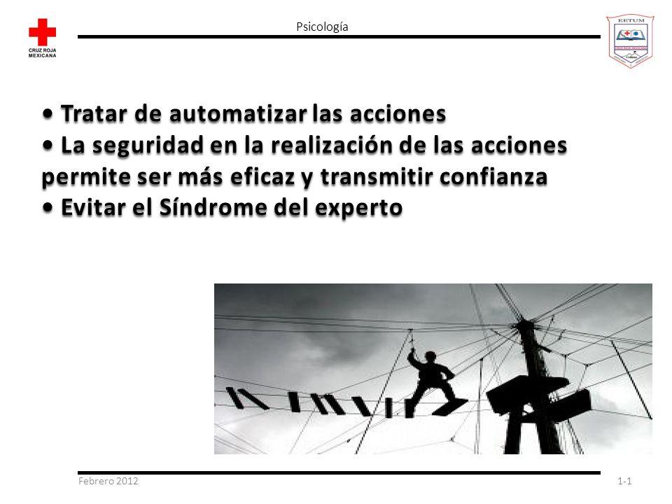 • Tratar de automatizar las acciones
