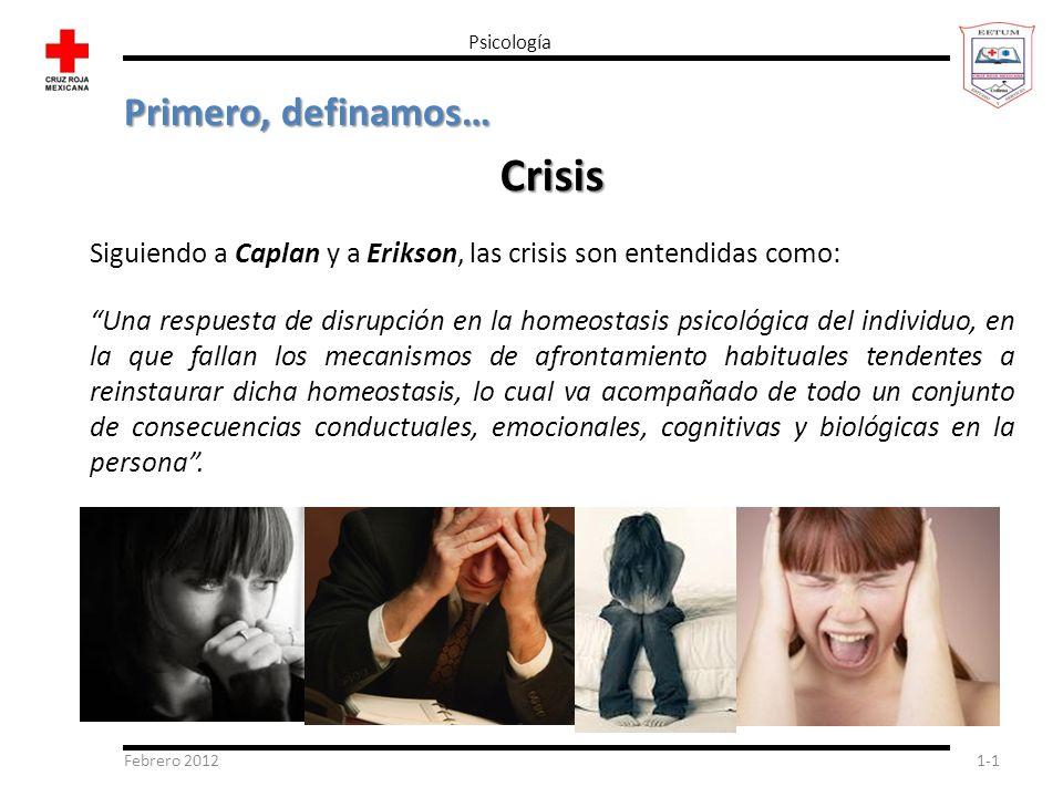 Crisis Primero, definamos…