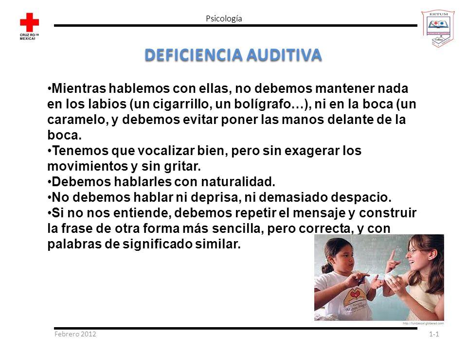 Psicología DEFICIENCIA AUDITIVA.
