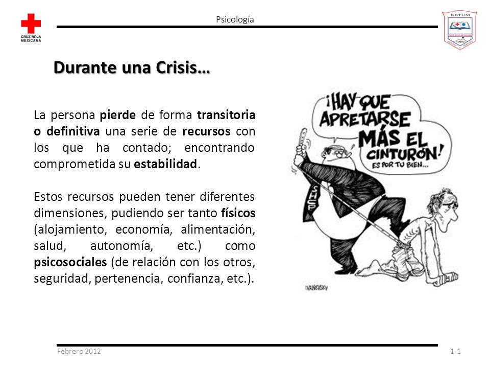 Psicología Durante una Crisis…