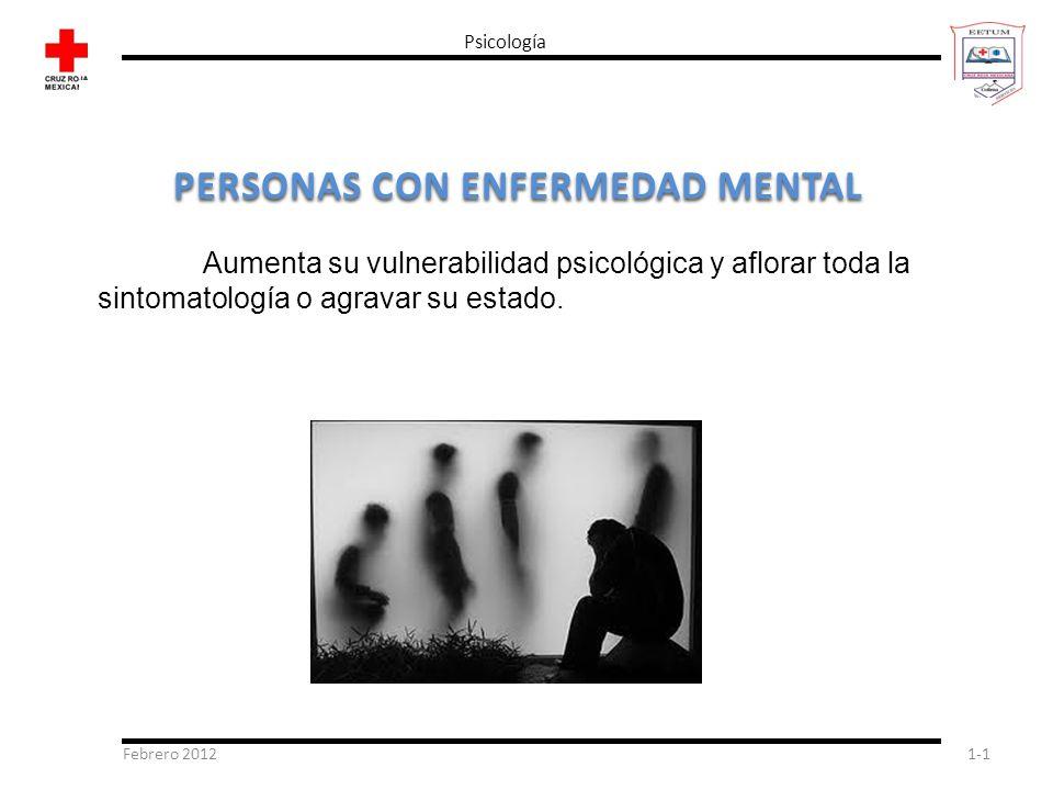 PERSONAS CON ENFERMEDAD MENTAL