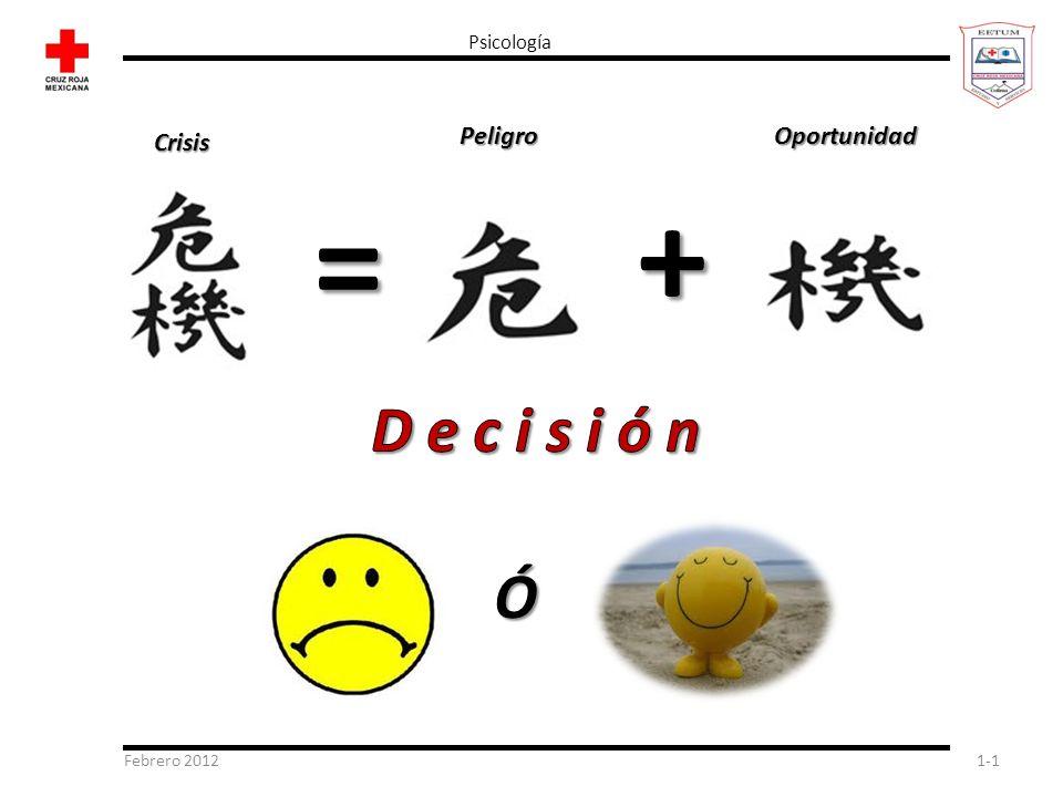 + = D e c i s i ó n Ó Peligro Oportunidad Crisis Psicología