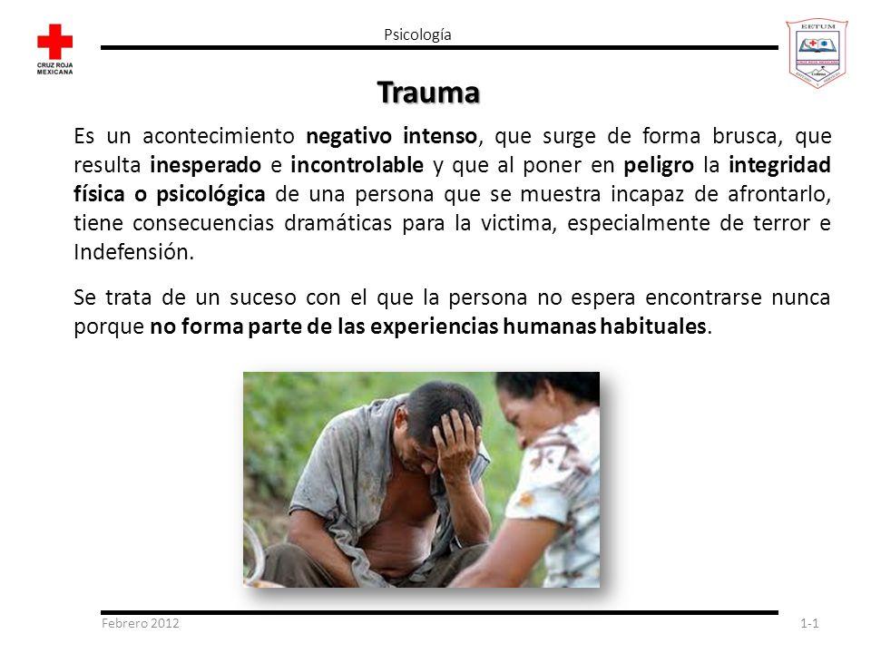 Psicología Trauma.