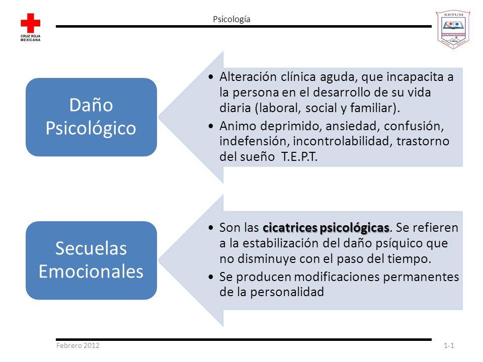 Psicología Febrero 2012 Daño Psicológico