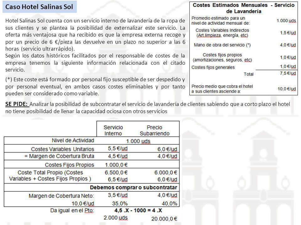 Caso Hotel Salinas Sol