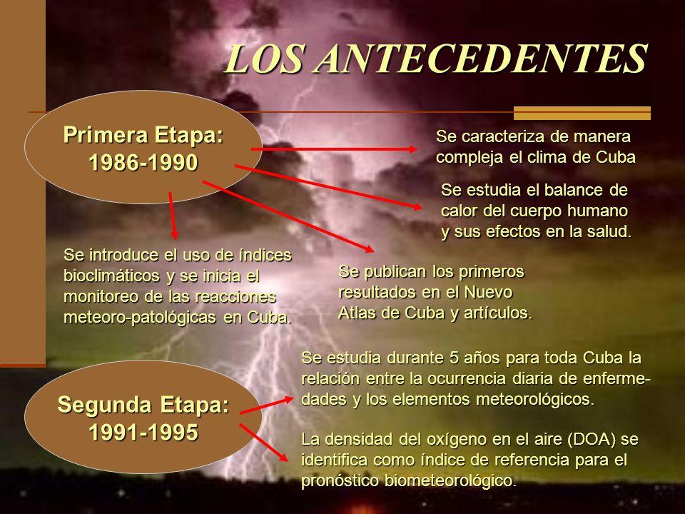 LOS ANTECEDENTES Primera Etapa: 1986-1990 Segunda Etapa: 1991-1995