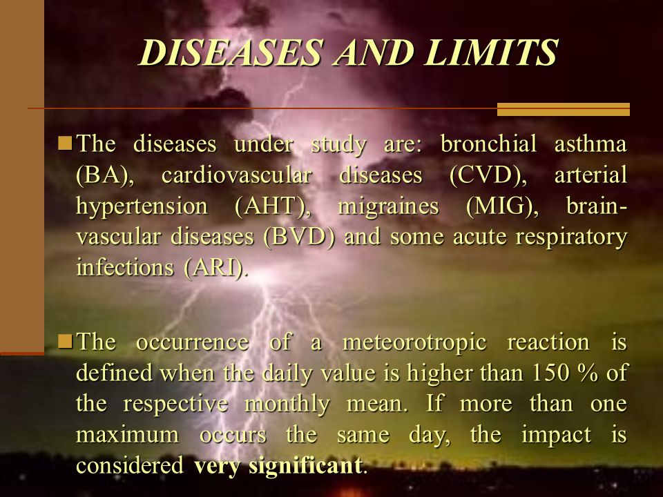DISEASES AND LIMITS