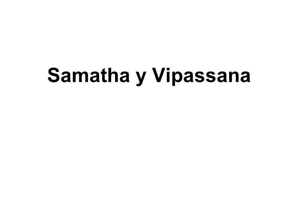 Samatha y Vipassana