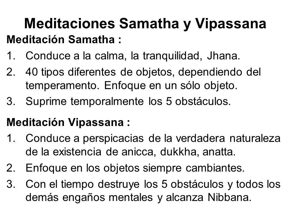 Meditaciones Samatha y Vipassana