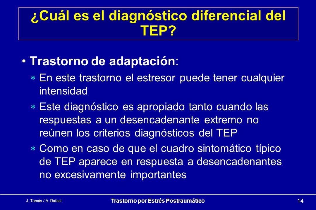 ¿Cuál es el diagnóstico diferencial del TEP