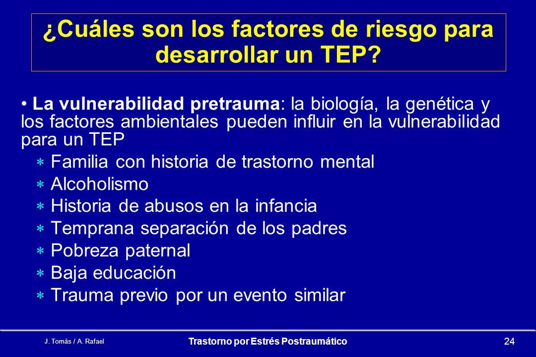 ¿Cuáles son los factores de riesgo para desarrollar un TEP
