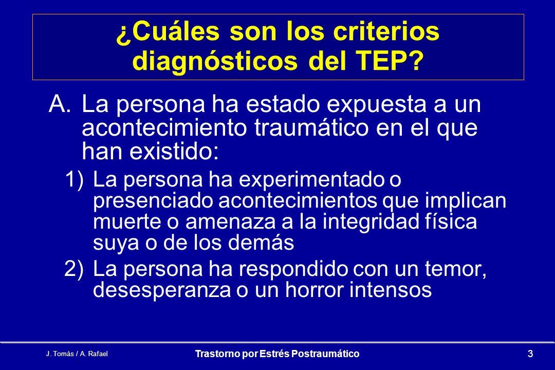 ¿Cuáles son los criterios diagnósticos del TEP