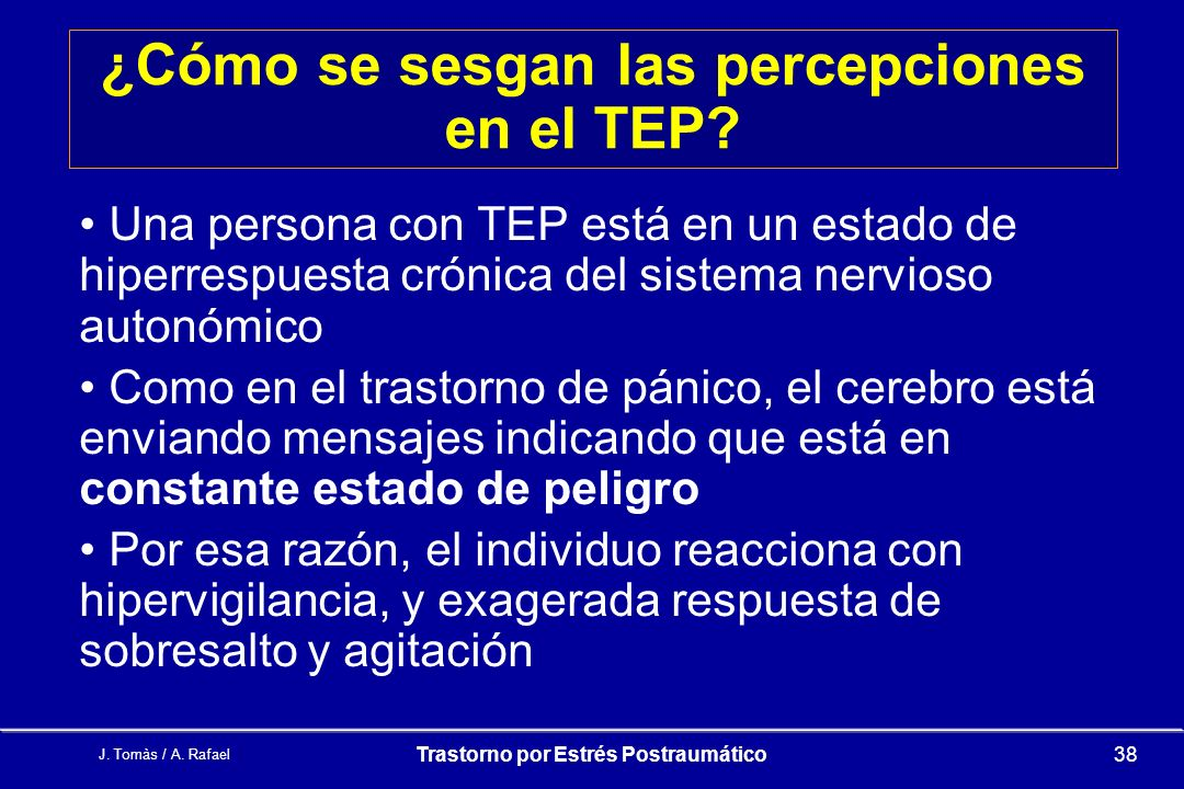 ¿Cómo se sesgan las percepciones en el TEP