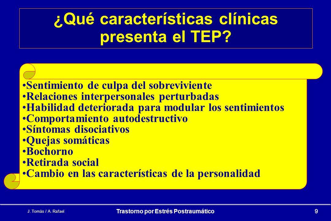 ¿Qué características clínicas presenta el TEP