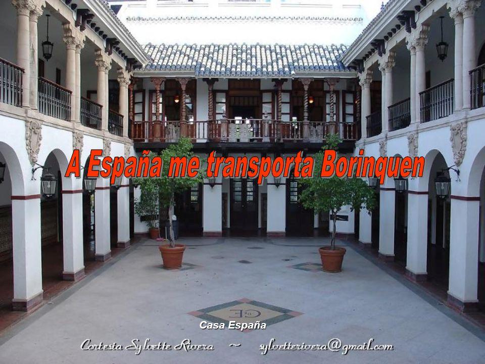 A España me transporta Borinquen A España me transporta Borinquen