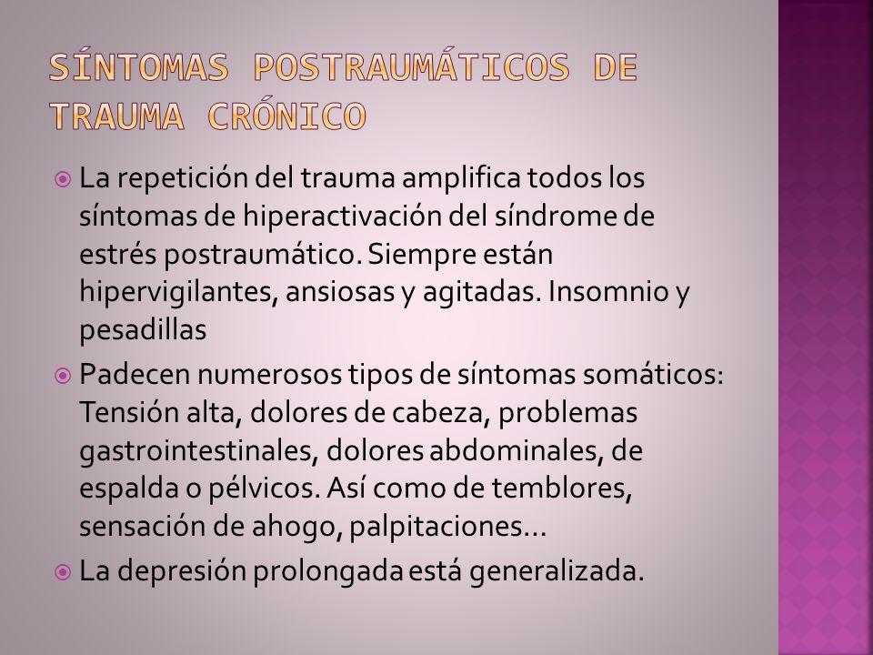 Síntomas postraumáticos de trauma crónico
