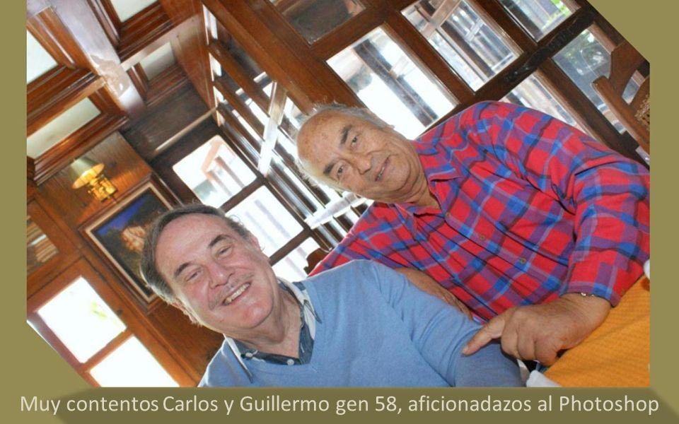 Muy contentos Carlos y Guillermo gen 58, aficionadazos al Photoshop