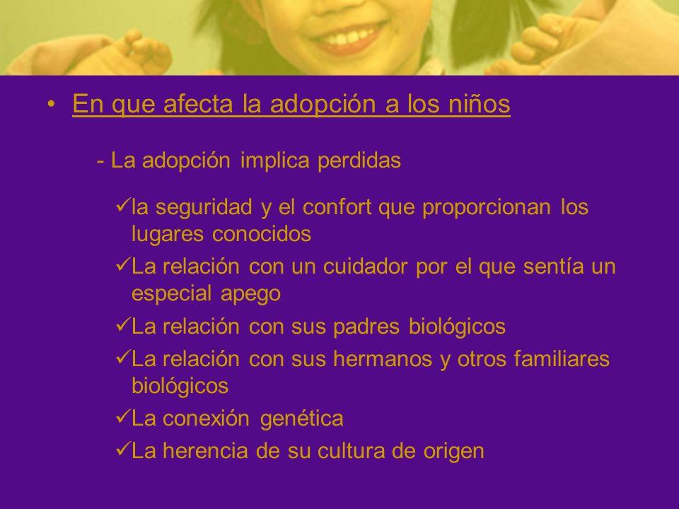 En que afecta la adopción a los niños