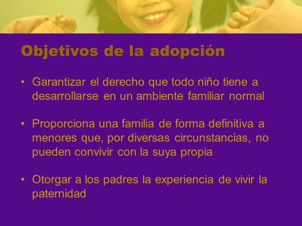 Objetivos de la adopción