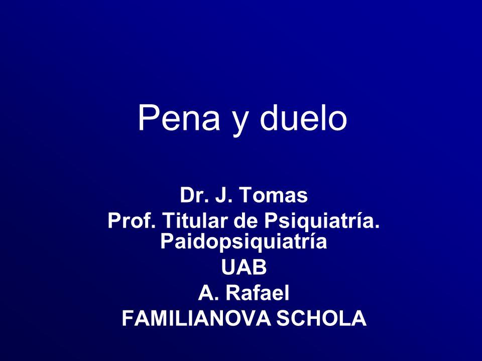 Prof. Titular de Psiquiatría. Paidopsiquiatría