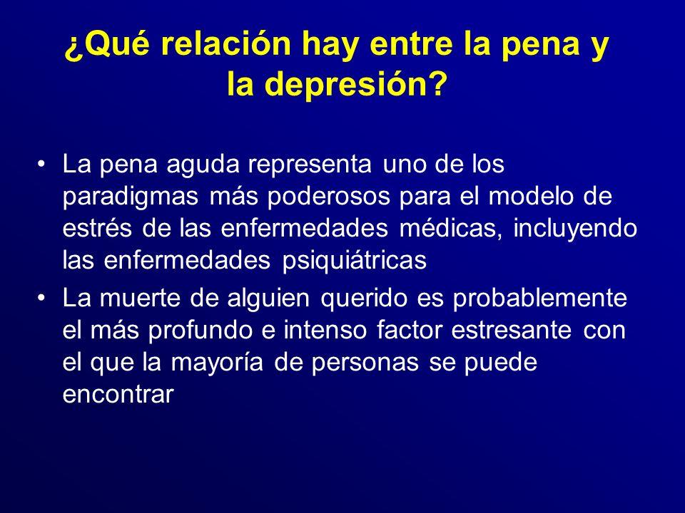 ¿Qué relación hay entre la pena y la depresión