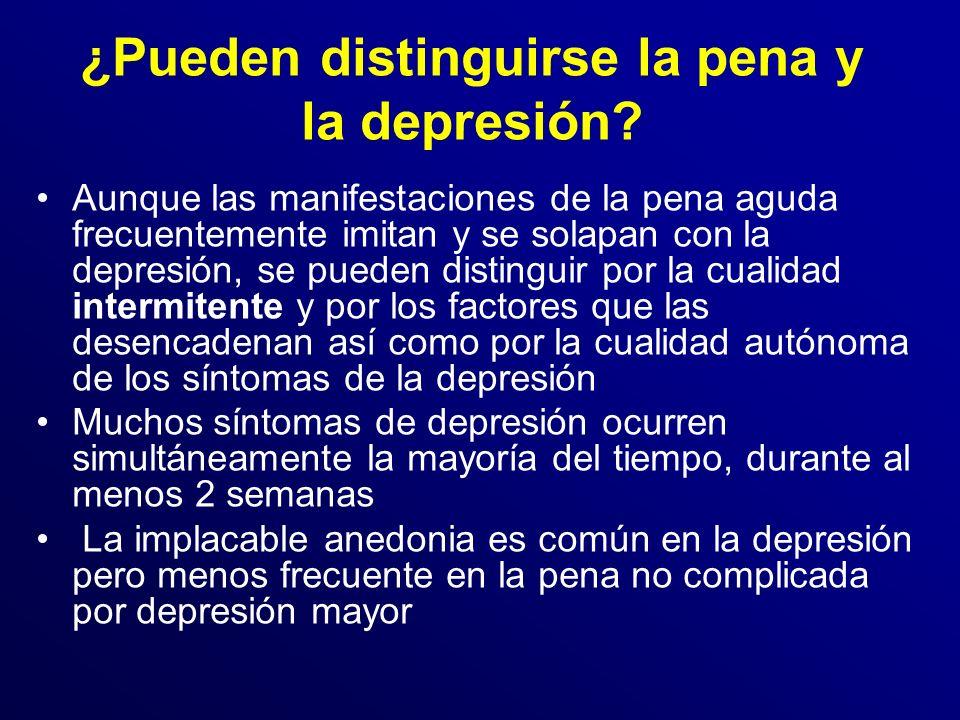 ¿Pueden distinguirse la pena y la depresión