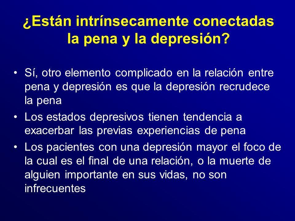 ¿Están intrínsecamente conectadas la pena y la depresión