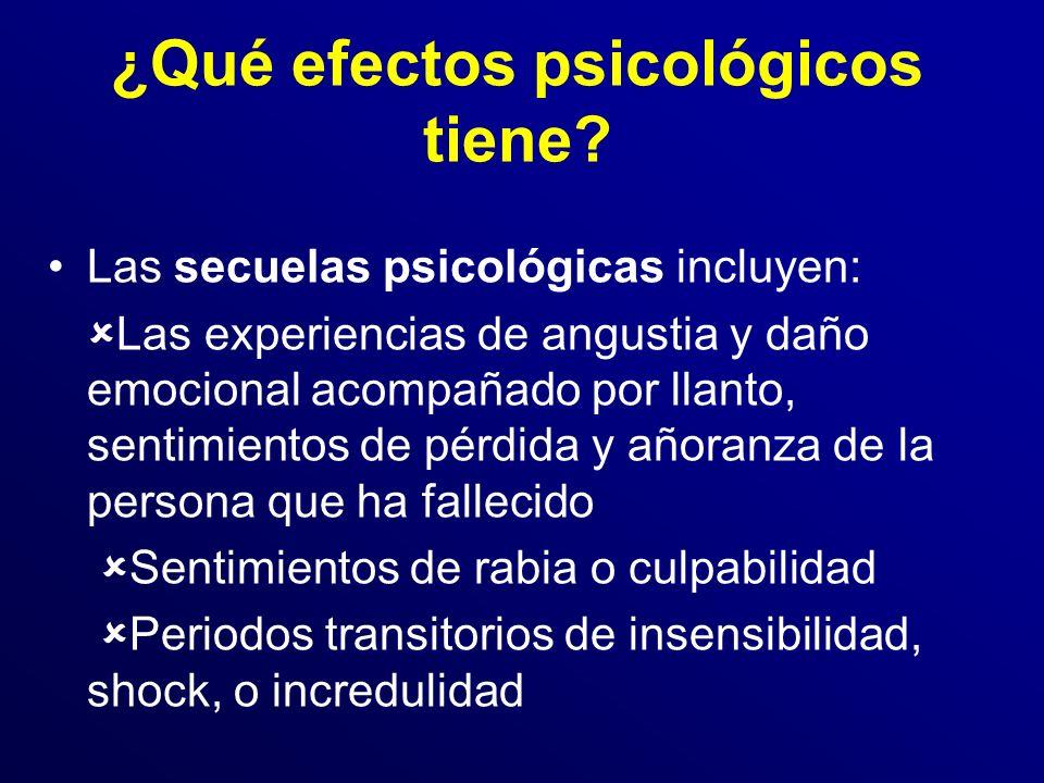 ¿Qué efectos psicológicos tiene