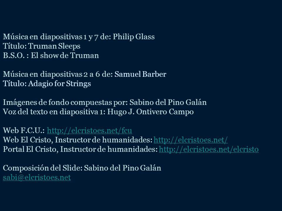 Música en diapositivas 1 y 7 de: Philip Glass