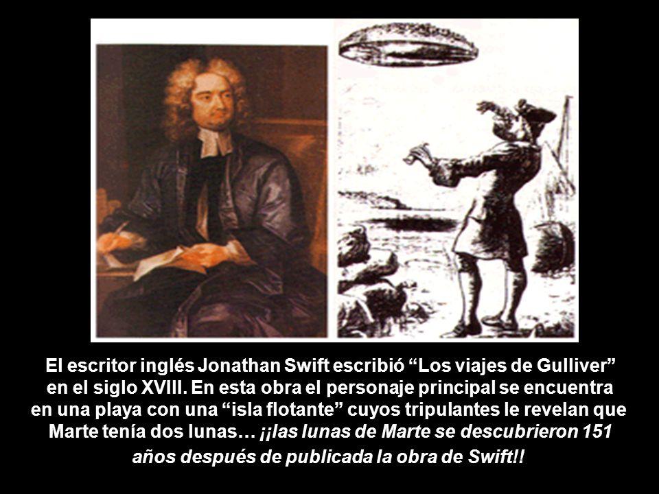 El escritor inglés Jonathan Swift escribió Los viajes de Gulliver