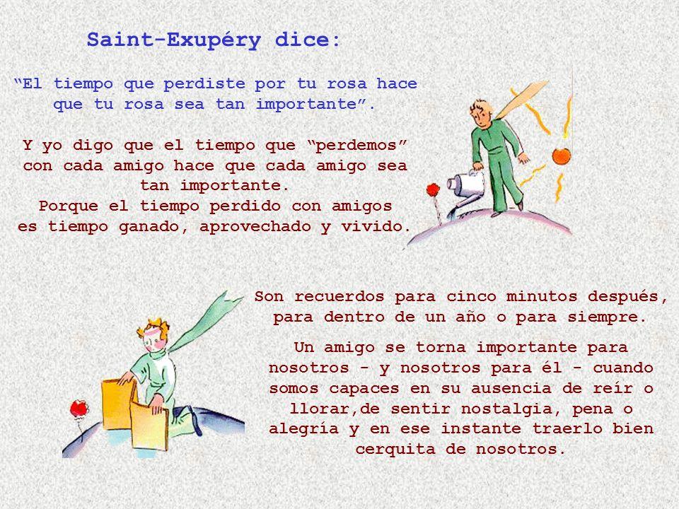 Saint-Exupéry dice: El tiempo que perdiste por tu rosa hace que tu rosa sea tan importante .
