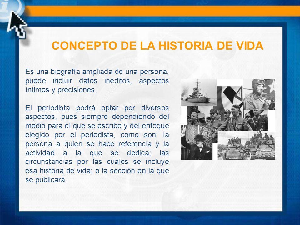 CONCEPTO DE LA HISTORIA DE VIDA