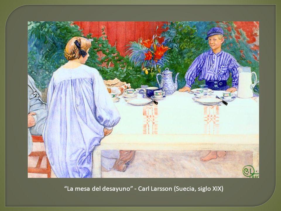 La mesa del desayuno - Carl Larsson (Suecia, siglo XIX)